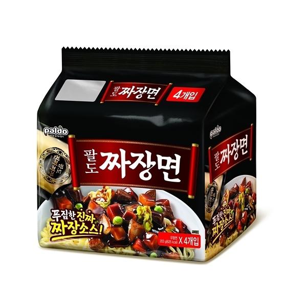 韓國 八道Paldo 金炸醬拉麵203g X 4包(整袋裝)【小三美日】