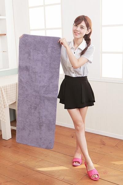 【HOME WORKING】超纖柔感踏墊 長型 /2色 可丟洗衣機 速乾止滑地墊