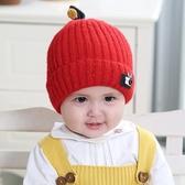 嬰兒帽 兒童帽 韓版寶寶套頭毛線帽 加棉嬰兒針織帽 雙層保暖秋冬保暖帽子【多多鞋包店】pj208