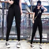 飛鼠褲2020新款哈倫褲奶奶褲小腳九分春秋褲子女鬆緊腰寬鬆跨褲大襠褲潮 韓國時尚週