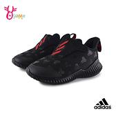 adidas童鞋 寶寶鞋 FORTARUN AC K輕量跑步鞋小童鞋 魔鬼氈男童鞋 S9319#黑紅◆OSOME奧森鞋業