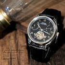 【完全計時】手錶館│PARNIS 陀飛輪造型/日期顯示/動力儲存45hr顯示 黑 PA3043 禮物