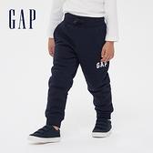 Gap男童 仿羊羔絨基本款鬆緊休閒褲 592776-海軍藍