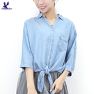 【春夏新品】American Bluedeer - 牛仔綁帶襯衫