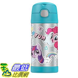 [107美國直購] Thermos 兒童保溫水壺 Funtainer Bottle, 12-Ounce, My Little Pony  F4017MP6  彩虹小馬