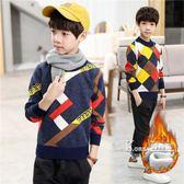 毛衣-童裝男童毛衣新款秋冬寶寶打底針織衫中大兒童套頭加絨加厚潮 korea時尚記
