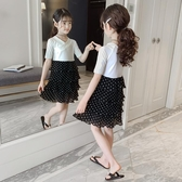 女童洋裝2019新款夏裝兒童韓版夏季女孩短袖中大童洋氣公主裙子怦然心動
