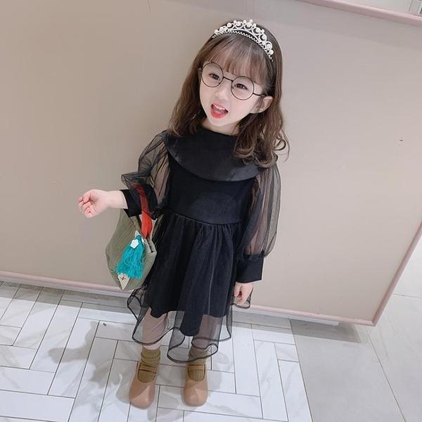女童洋裝 春秋裝超仙女寶寶紗裙洋氣公主裙 淇朵市集
