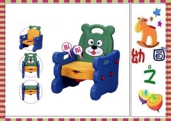 *幼之圓*可愛小熊學習便器 / 兒童馬桶 / 幼兒便器 / 還可以當小椅子喔~台灣製