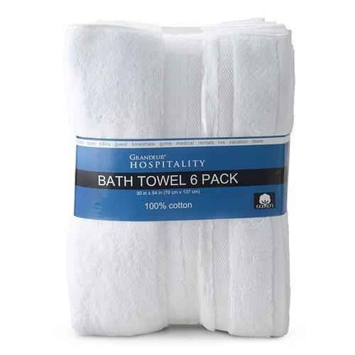 Grandeur 商用純棉大浴巾 76 x 137公分 6入/組