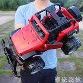超大遙控可開門越野車充電高速攀爬大腳賽車兒童玩具男孩遙控汽車igo綠光森林