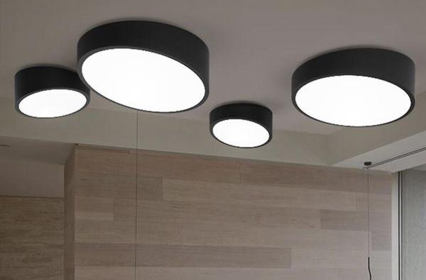 美術燈    北歐創意臥室過道客廳燈具陽台玄關圓形斜角 LED吸頂燈(中號)   -不含光源