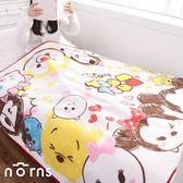 【日貨刷毛毯 TSUM TSUM綜合人物】Norns 日本正版 迪士尼 雙人 保暖毛毯 毯子 被子 被毯 隨意毯棉被