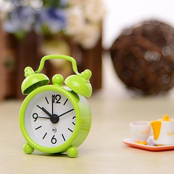 迷你小鬧鐘創意學生BB床頭數字時鐘兒童鬧鈴可攜帶表簡約鬧鐘表WY 【快速出貨】