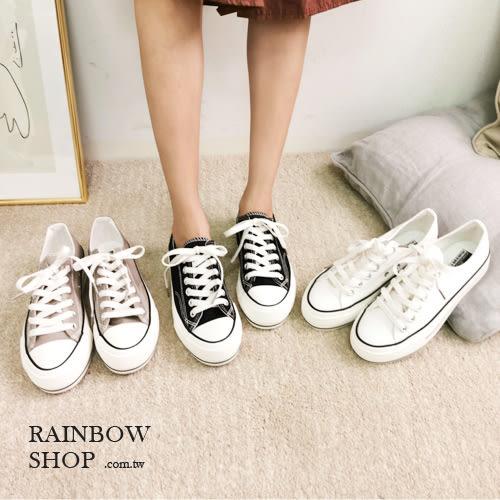 厚底百搭帆布鞋-M-Rainbow【A9BE-85919】