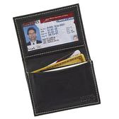 【LEWIS N CLARK美國人氣旅遊配件】RFID防盜錄小羊皮證件短夾-黑