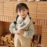 兒童圍巾兒童毛絨圍巾韓版冬季保暖寶寶圍脖加厚仿兔毛男女童卡通小熊脖套 多色小屋