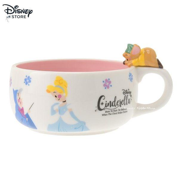 日本 Disney Store 限定 仙度瑞拉 故事書系列 陶瓷湯碗 木湯勺 套組