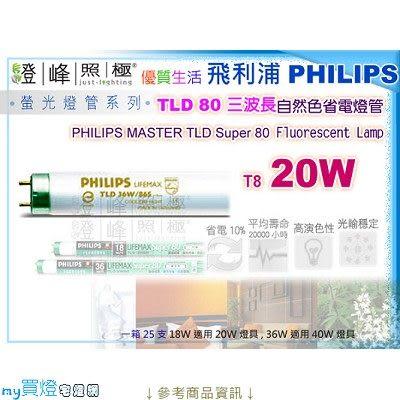 【PHILIPS飛利浦】燈管 T8.20W TLD80三波長自然色省電燈管(白/黃光)【燈峰照極my買燈】