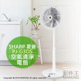 【配件王】日本代購 SHARP 夏普 PJ-G3DS DC空氣清淨電風扇 電扇 除臭 除靜電 7扇葉 32段風量