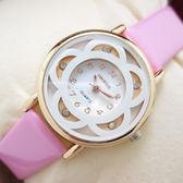 皮帶手錶女學生日韓女士時尚潮流女表水鑽防潑水石英表時裝腕表【一周年店慶限時85折】