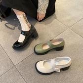 lolita鞋英倫Lolita高跟鞋ins風2020春季新款復古粗跟瑪麗珍鞋百搭單鞋女 衣間迷你屋