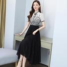 洋裝 禮服 長裙 中大尺碼 M-4XL新款旗袍改良版雪紡氣質高端連身裙NC26D-7150.胖胖唯依