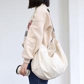 斜背包 素色 簡約 帆布包 拉鍊 斜挎包 單肩包--單肩包/斜背包【AL437】 ENTER  04/25