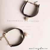 現貨-MIUSTAR 氣質優雅大珍珠皮革手環(共2色)【ND0956T1】