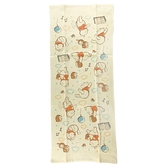 小禮堂 迪士尼 小熊維尼 純棉紗布長毛巾組 純棉毛巾 長巾 紗巾 34x80cm (2入 黃 雲朵) 4550239-01433