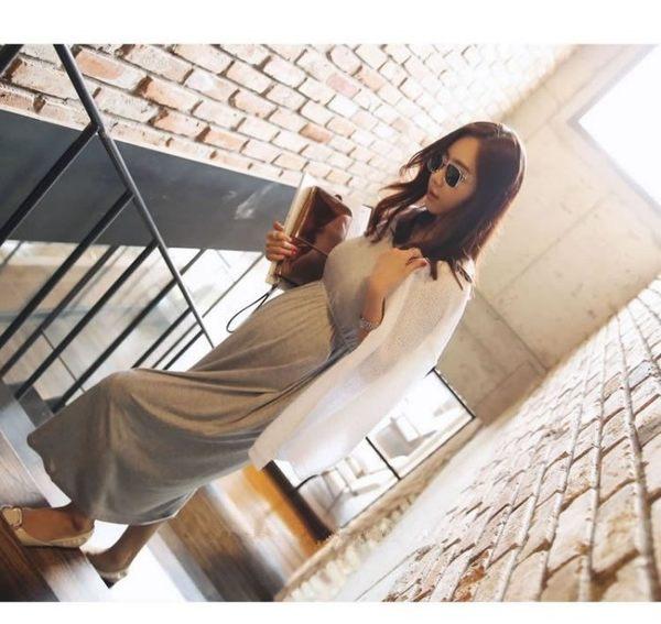 漂亮小媽咪 短袖長裙 【D0153】 純色 短袖 莫代爾 超柔軟 長裙 孕婦裝 連身裙