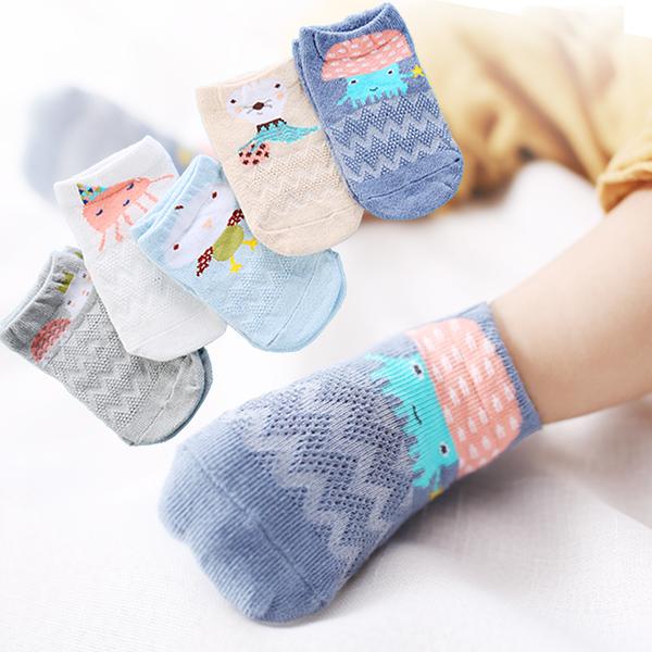 ★嬰兒襪子夏0-6個月新生兒網眼寶寶襪1-3-5歲~