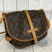 BRAND楓月 LOUIS VUITTON LV 路易威登 M42256 原花 Saumur 馬鞍包 斜背包
