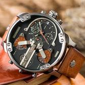 DIESEL Mr Daddy 2.0 狂野霸氣大錶面皮革腕錶 DZ7332 熱賣中!