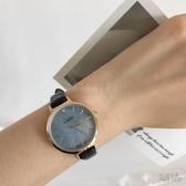 冰茹妹妹家 韓版經典復古簡約大海深藍貝母漸變精致腕錶手錶女 衣櫥秘密