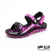 G.P (女+童) 雙層舒適緩震涼拖鞋-黑桃(另有藍)