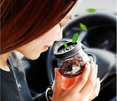 車載香水座式固體香膏車內沸石香薰擺件汽車用品空氣清新劑除異味·享家