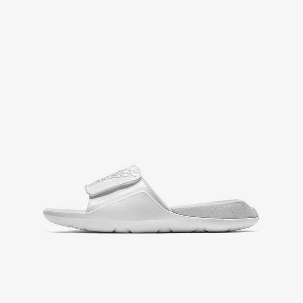 Nike Jordan Hydro 7 GS [AA2516-100] 大童鞋 運動 休閒 涼鞋 拖鞋 魔鬼氈 白灰