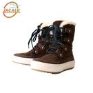 【下殺↘2590】Jacalu 中筒麂皮雪靴2761 / 城市綠洲 (雪靴、防潑水、防雪、刷毛、布面)
