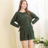 睡衣 居家服- Wonderland 活潑甜漾衣褲組- 綠