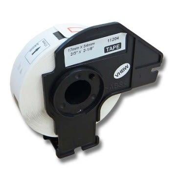 Brother DK-11204 相容 定型副廠標籤帶 ( 17mm x 54mm 白底黑字400張 )