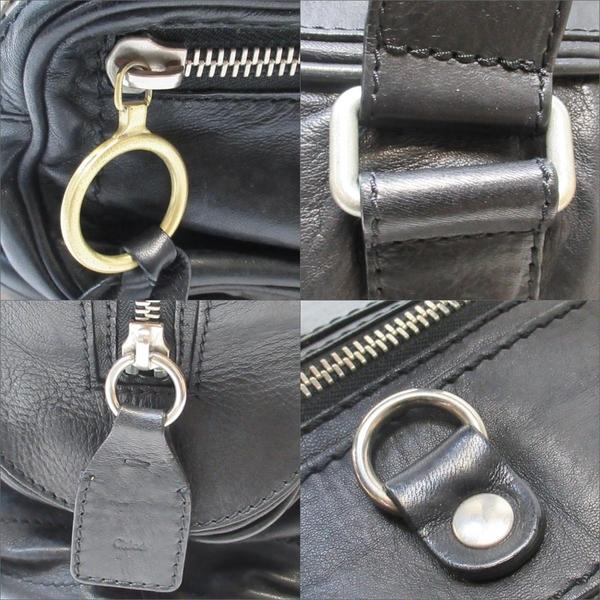 Chloe 克羅伊 黑色牛皮多口袋手提包/旅行包 【二手名牌BRAND OFF】