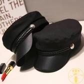 貝雷帽英倫薄款復古百搭海軍帽八角帽子女日系【雲木雜貨】