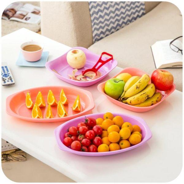 [超豐國際]塑料深口水果盤創意簡約小盤子 圓形瓜子盤客廳干果盤