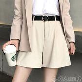 西裝短褲女夏高腰顯瘦韓版寬鬆百搭休閒工裝外穿a字直筒闊腿雪紡