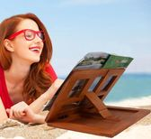 實木制書架大號閱讀架食譜架看書架 古典色調IPAD架『新佰數位屋』