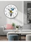 掛鐘時鐘 北歐鐘表掛鐘客廳現代簡約時鐘掛墻創意時尚表家用大氣裝飾輕奢表 優拓