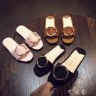 女童拖鞋可愛小公主休閒鞋室內防滑軟底兒童時尚韓版外穿涼拖 町目家