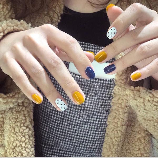 指甲油 姜黃色甲油膠2019年新款美甲店專用流行色光療指甲油膠【快速出貨】