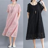 整件蕾絲氣質洋裝-大尺碼 獨具衣格 J2680